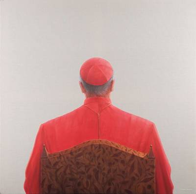 Cardinal, 2012 Acrylic On Canvas Poster by Lincoln Seligman