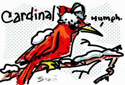Cardinal Poster by Brett LaGue