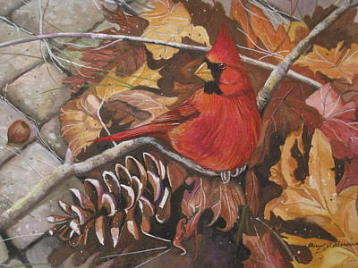 Cardinal Color Poster by Cheryl Borchert