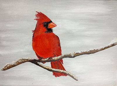 Cardinal Poster by Valorie Cross