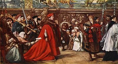 Cardinal Wolsey On His Way Poster by Sir John Gilbert