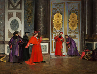 Cardinals In The Hall Of The Vatican Poster by Henri Adolphe Laissement