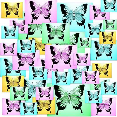 Carefree Butterflies Poster by Cathy Jacobs