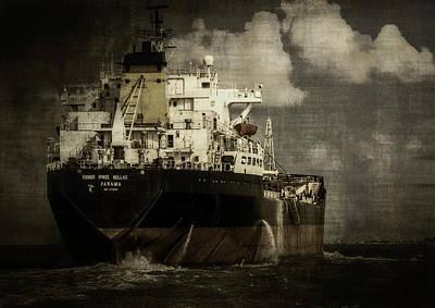 Cargo Ship Poster by F Leblanc