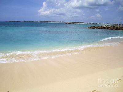 Poster featuring the photograph Caribbean Beach Front by Fiona Kennard