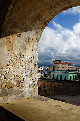 Caribbean Colors Of San Juan Puerto Rico From A Window Of San Cristobal Castle Poster by Georgia Mizuleva