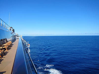 Caribbean Cruise - On Board Ship - 121266 Poster by DC Photographer