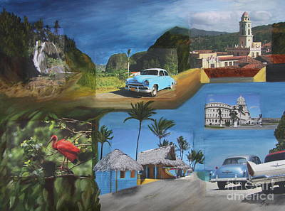 Caribbean Dream - Collage Poster by Christiane Schulze Art And Photography