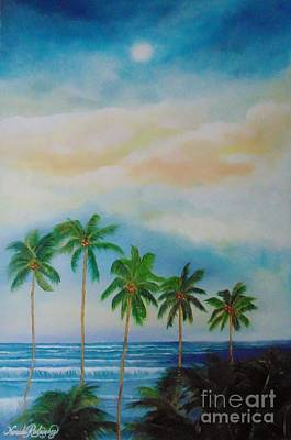 Poster featuring the painting Caribbean Dream by Nereida Rodriguez