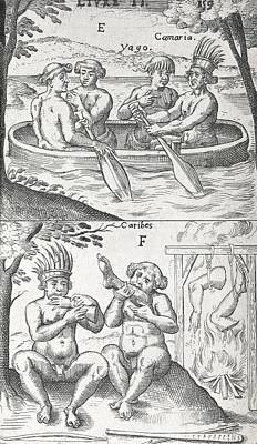 Caribbean Peoples, 17th Century Poster by Science Photo Library