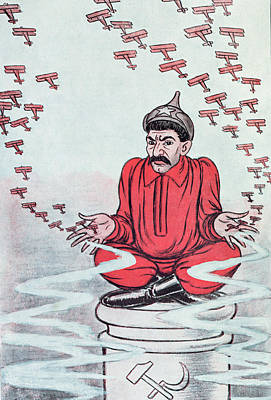 Caricature Of Stalin Poster