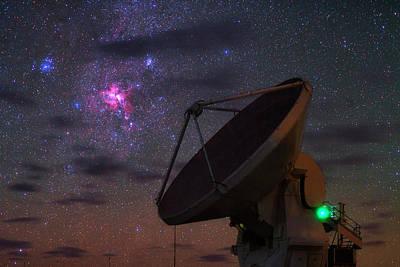 Carina Nebula Over Alma Telescope Poster
