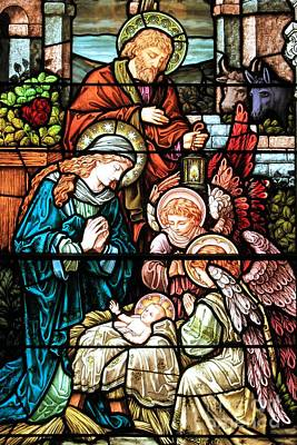 Caring For Baby Jesus Poster by Adam Jewell