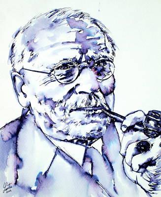 Carl Gustav Jung - Portrait Poster by Fabrizio Cassetta
