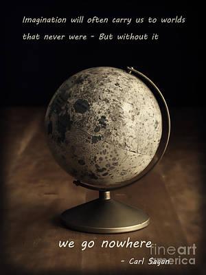 Carl Sagan On Imagination Poster by Edward Fielding
