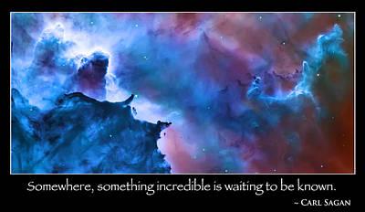 Carl Sagan Quote And Carina Nebula Poster by Jennifer Rondinelli Reilly - Fine Art Photography