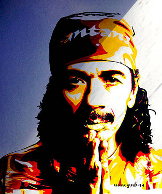 Carlos Santana. Poster by Nancy Mergybrower