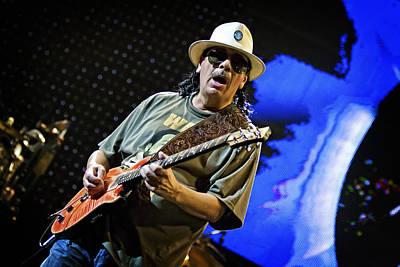 Carlos Santana On Guitar 6 Poster by Jennifer Rondinelli Reilly - Fine Art Photography