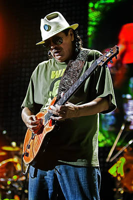 Carlos Santana On Guitar 8 Poster by Jennifer Rondinelli Reilly - Fine Art Photography