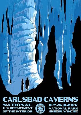 Carlsbad Caverns National Park Vintage Poster Poster