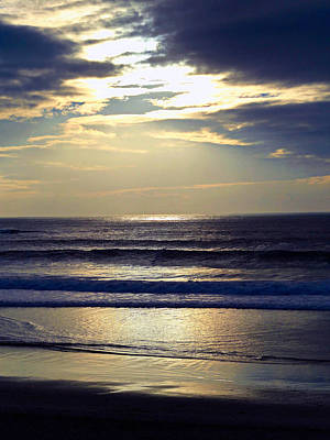 Carmel Beach Sunset Poster