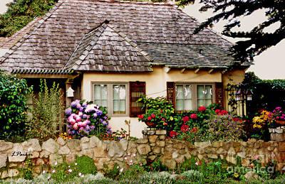 Carmel English Cottage Poster by Linda  Parker