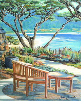 Poster featuring the painting Carmel Lagoon View by Jane Girardot