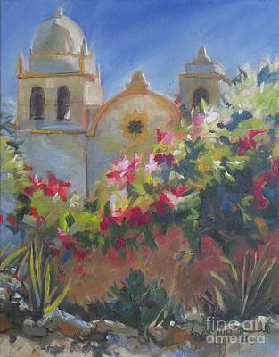 Carmel Mission Poster by Mary Hubley