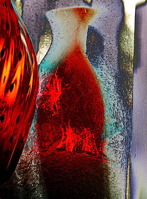 Poster featuring the photograph Carmellas Red Vase 1 by Kate Word