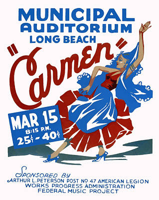 Poster featuring the painting Carmen by American Classic Art