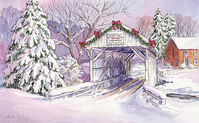 Carmichaels Covered Bridge Poster by Leslie Fehling