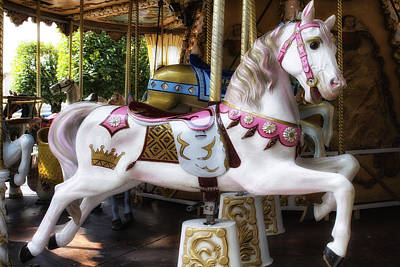 Carnival - Carousel Poster by Georgia Fowler
