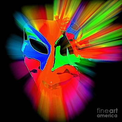 Carnival Mask In Abstract Poster