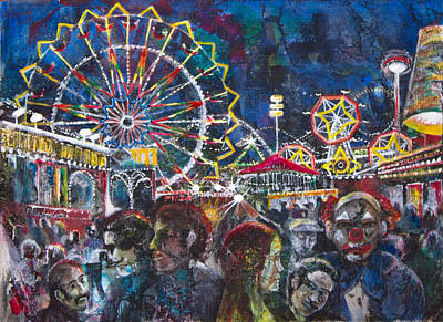 Carnival Poster by Patricia Allingham Carlson