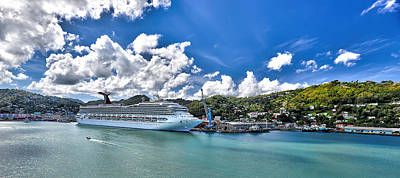 Carnival Valor At St. Lucia Port  Poster