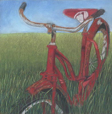 Poster featuring the drawing Carole's Bike by Arlene Crafton