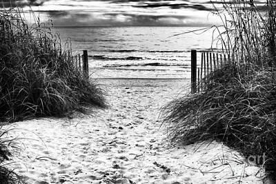 Carolina Beach Entry Poster by John Rizzuto