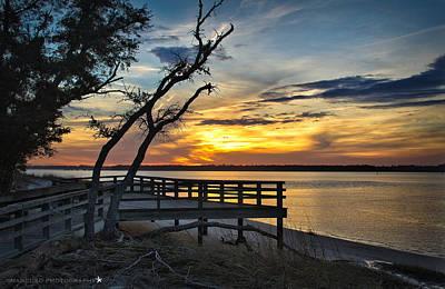 Carolina Beach River Sunset Poster by Phil Mancuso