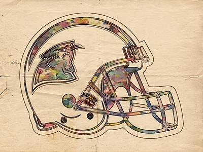 Carolina Panthers Logo Art Poster by Florian Rodarte