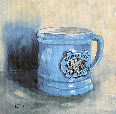 Carolina Tar Heel Coffee Cup Poster by Torrie Smiley
