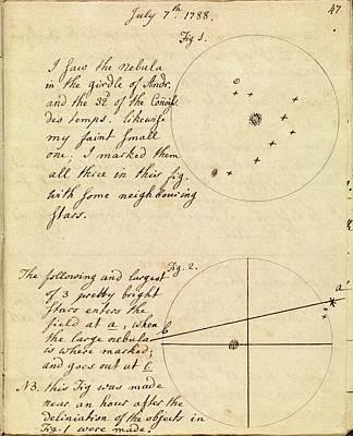 Caroline Herschel Nebula Discovery Poster