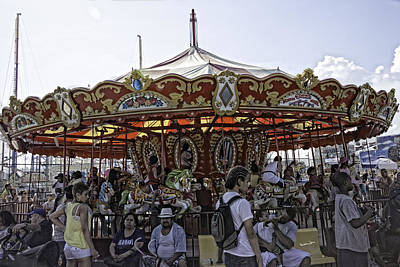 Carousel 2013 - Coney Island - Brooklyn - New York Poster by Madeline Ellis