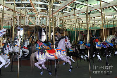 Carousel At Santa Cruz Beach Boardwalk California 5d23632 Poster