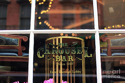 Carousel Bar Poster by Heather Green