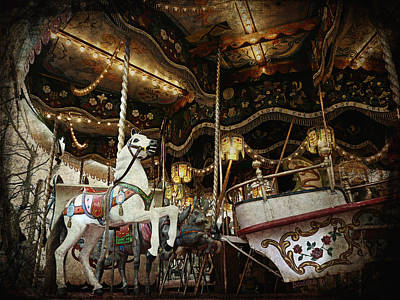Poster featuring the photograph Carousel by Barbara Orenya