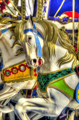 Carousel Charger Poster by Wayne Sherriff