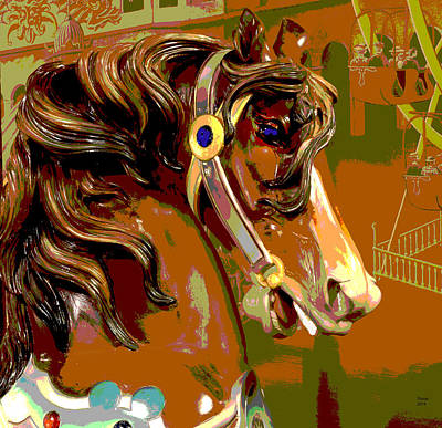Carousel Horse Poster