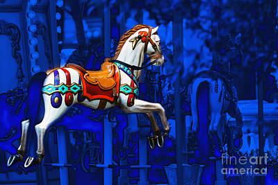 Carousel Horse Poster by Gunter Nezhoda