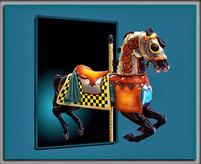Carousel Horse Left Side Poster by Thomas Woolworth