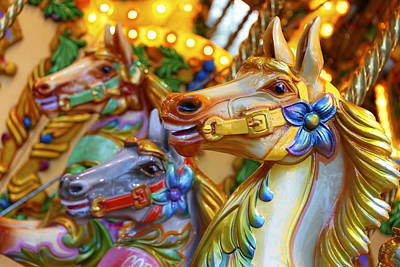 Carousel Horses Poster